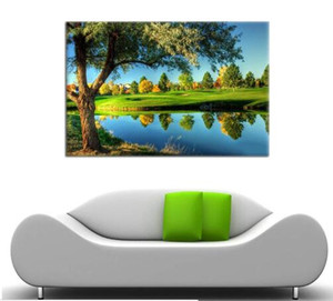Wall Decor for Living Rooms Beautiful Golf Course Landscape Painting Canvas Art Home Decor Wall Artwork HD Prints For Home decor