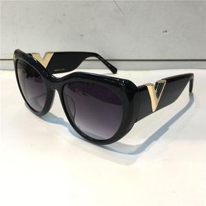 Sunglasses For women Summer cat eyes style 0902 Anti-Ultraviolet Retro Shield lens Plate oval full frame fashion Eyeglasses Random Box