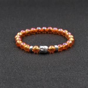 Natural Pedra Pulseiras Charm Bracelet r Cabeça de Buddha Bead Bracelet