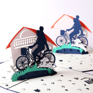 Venta caliente Nuevo Laser Cut Invitations 3D Pop Up Dad and I Card Kids Birthday Father Day Greeting Cards