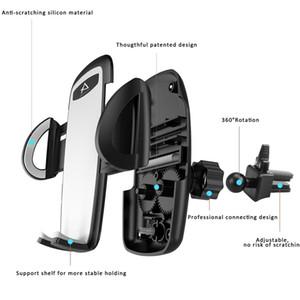 빠른 쉬운 릴리스 버튼 범용 아이폰 삼성 화웨이와 에어 벤트 전화 홀더 자동차 마운트 360도 회전 거치대