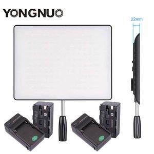 도매 YN600 공기 3200K-5500K LED 카메라 비디오 라이트 사진 스튜디오 조명 + 2x 충전기 + 2X NP-F750 배터리