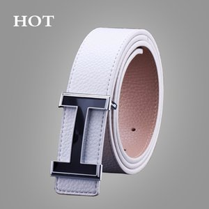 NEW Belts Smooth Buckle Casual All-Match Designer Top  Belts Men Fashion PU Male Leather Belt For Men