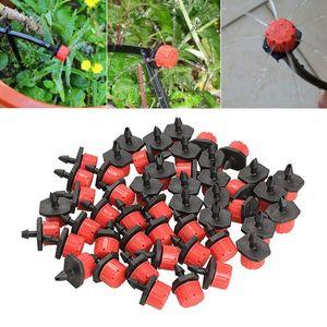 50 Unids / lote Jardinería Emisor Riego Emisor Nebulización Cabeza de Rociador de Aspersión Micro Cabeza de Jardín accesorios