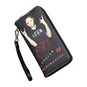 Custom photo 2018 new hand wallet ladies long section multi-function wallet zipper personality fashion ladies wallet free writing greeting c