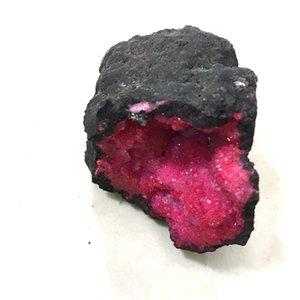 DingSheng Agate brute colorée Drusy Cluster Agate de cristal Quartz Sphère creuse Naturel AgateTreasure Bassin Bowl Cornaline Nouveauté