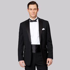 2018 latest coat pant designs black men suits satin notched lapel wedding prom costume slim fit terno man male blazer 2 pieces