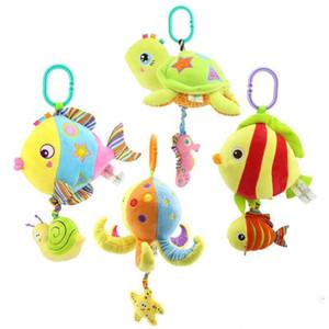baby toys cartoon marine animal car bells bed bell toy