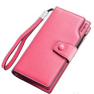 Women's Wallets Casual Purse Clutch Brand Female Leather Long Fold Wallet Design Women Phone Zipper Bag Gift For Lady HQB2030