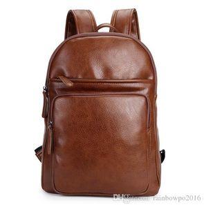 مصنع العلامة التجارية منفذ كيس بسيط حقيبة ثلاثي الأبعاد جلد الرجال على ظهره وقت الفراغ حقائب الطلاب الرجال الترفيه السفر في الهواء الطلق حقيبة الظهر