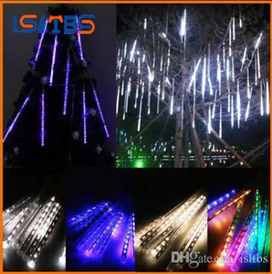 20CM 30CM 50CM Meteor Shower Rain Tubes Mini Meteor Lights LED Stringhe 8pcs LED Light Christmas Light Decorazione del giardino di nozze