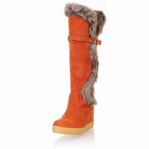 Autumn And Winter Nice Women Boots Rivet Buckling Flash Explosion Models Warm Snow Boots Fashion Increased Cotton A155