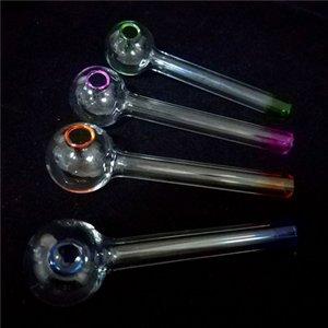 Beste Handarbeit Pyrexglas Ölbrenner Pfeife Mini Rauchen Handpfeifen Dickglas Pfeifenöl Bunte Pfeife für Kliesche Ölbohrinsel Glas Bong