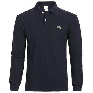 New polo de luxo camisas homens Designer manga comprida camisas Lacoste crocodilo marca Bordados top de algodão tshirts sólido jogo casual de negócios de golfe