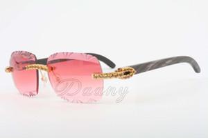 الأصفر المباشرة الماس نظارات، ذات جودة عالية منحوت نظارات 8300765-A الساقين الأسود الطبيعي الزهور مقرن، نظارات، الحجم: 56-18-140mm
