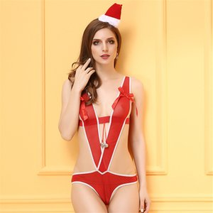 Christmas Europe and The United States Adult Sexy Lingerie Christmas Clothing Sexy High-end Sexy Uniforms Slings Onesies
