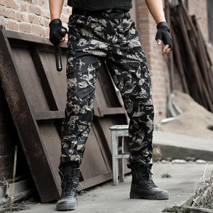 Camouflage Military Tactical Pants Army Military Trouser Airsoft Paintball Combat Cargo Pants Work Pantolon Thin Joggers Trouser