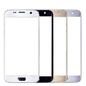 Alta Qualidade Outer Vidro dianteiro lente de vidro Peças de reposição para o transporte Samsung Galaxy S7 G930 G930F Branco Black Gold grátis