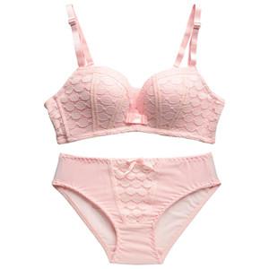 Neue Mode Dame Spitze Unterwäsche Frauen Set Push-Up Bh Nahtlose Sexy Büstenhalter Wireless Bras Für Kleine Brust Dessous Set