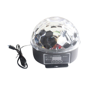 20W RGB LED Magic Ball Sound Control Stage Light Crystal Ball Lamp for KTV, Bar, Disco, Party
