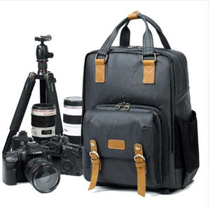 May New Arrival Professional Simple Light Camera Bag Canvas Fashion Simple Korean Style Photography DSLR SLR Backpack
