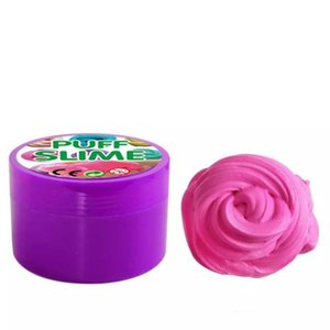 Descompressão brinquedo sopro Flyffy Floam Slime perfumado lama lama de algodão colorido DIY Plasticine lama para crianças e adultos Anti-stress e relaxante