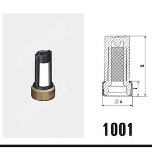 livraison gratuite du matériel original 6 * 3 * 12 mm Injecteur Micro panier Filtre pour les kits de réparation ASNU03C Injector 11001