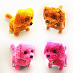 전자 개 아이들 아이 대화 형 전자 애완 동물 인형 봉제 목 벨 걷기 전자 개 장난감 크리스마스 선물 짖는