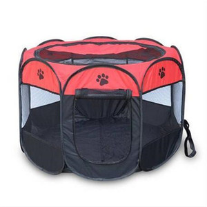 Free shipping Pet Folding Cage 600D Portable Oxford Dog Playpen Pet Fence Kennel Puppy Kitten Sleeping House Outdoor Exercise Pet Tent