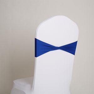 Vendita calda spandex telai fascia in lycra per la copertura della sedia spandex fasce papillon per la decorazione di nozze progettazione di banchetti SN1525