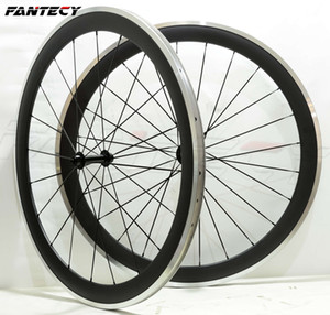 FANTECY Alloy Brake Surface Räder 50mm Tiefe 25mm Breite Aluminium-Rennrad Carbon Radsatz 3K matt mit Powerway R13 Nabe