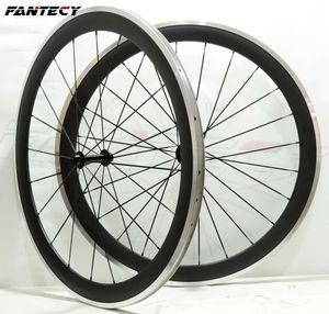 FANTECY сплава тормозной поверхности колеса 50 мм глубина 25 мм ширина алюминиевый тормоз дорожный велосипед углерода колесная 3K матовая отделка с Powerway R13 концентратор