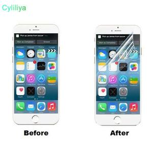 Прозрачный Clear Front HD ЖК-экран Защитная пленка с Ткань Sratch Устойчив для iPhone X 8 7 Plus 6 6S 5S 5 Samsung S8 Примечание 8 5