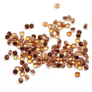 Gros Pas Cher Prix Pierre Naturelle Du Mozambique Grenat Rond 0.8mm-1.5mm Bonne Qualité Vrac Gemstone Pour La Fabrication de Bijoux 1000 pcs Un Lot