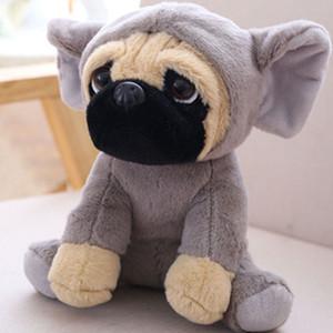 Poupée Shar Pei pour chien, poupée mignonne portant un chapeau, un chien, une simulation, un roquet, une poupée, un jouet en peluche