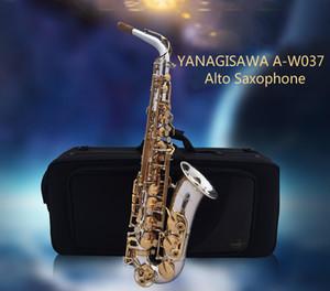 Nuovo Sassofono Tono Alto Eb YANAGISAWA A-W037 Placcato Oro Chiave d'oro Strumento musicale con bocchino, custodia, guanti