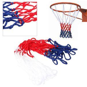 Malha de nylon da borda do objetivo da aro da rede azul branca vermelha do basquetebol do vermelho de 5mm
