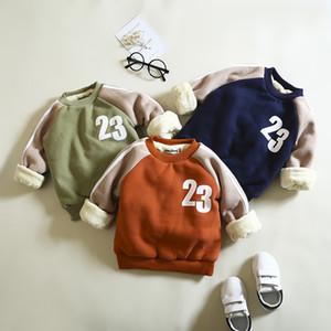 BibiCola hiver garçons manteau vestes chauds épais hoodies pour bebe vêtements chidlren polaire velours survêtement enfants sport pull Y18102507