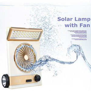 Edison2011 Multi-função Portátil Mini Luz Solar Mini Ventilador Recarregável Solar 30 LEDs com Lanterna Recarregável Lâmpada