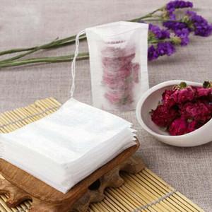 1000 pz 6 * 8 cm Vuoto Sacchetti bustine di tè filtro bustine di tè sciolto Yin singolo coulisse non tessuto foglia di loto bustina di tè vuota all'ingrosso