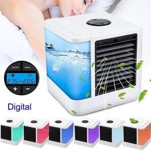 USB 휴대용 쿨러 팬 개인 공간 쿨러 휴대용 책상 팬 미니 에어컨 장치 차가운 진정 바람