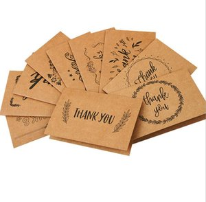 DHL Thank You Cards with Envelope Brown Kraft Paper 15X10CM for Wedding Graduation Birthday Greeting Teacher Thank U Cards NNB758
