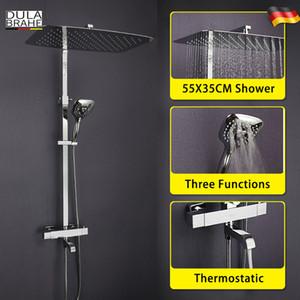 온도 조절 욕실 샤워 꼭지 세트 디지털 디스플레이 패널 지능형 목욕 믹서 스마트 빗 폭포 비 샤워 헤드