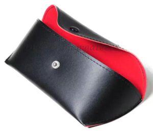 Envío gratis Nuevo 10 pares de gafas de sol sunglass negro caso / cubierta / con caja y paño de limpieza de calidad de envío rápido.