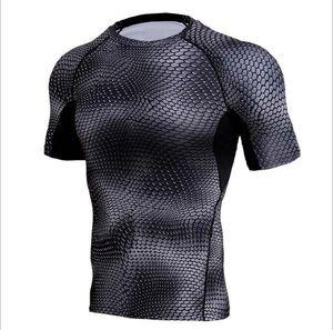 New Quick Dry Tank Man's T-Shirt Gym Fitness Tights Top Soccer Jerseys Running T Shirt Demix Men'S Sportswear Rashgard Male