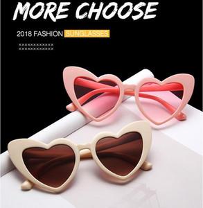 Gafas de sol de corazón para mujer gafas de sol de ojo de gato únicas, rosa, rojo, forma de corazón, gafas de sol para mujeres uv400 Moda Eyewears