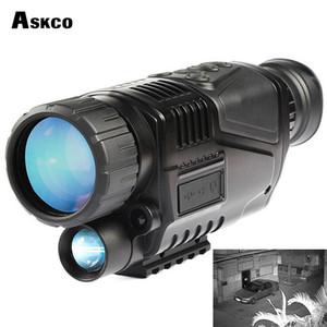무료 Shipp 디지털 단안 적외선 야간 망원경 5X40 야간 투시경 범위는 사냥을위한 TFT LCD와 사진 비디오 소요