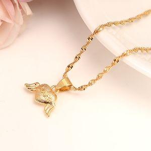 Lovable Love Heart Ear Collares pendientes Romantic Jewelry 14 k Fine Gold Filled Womens regalo de boda Girlfriend Wife Gifts
