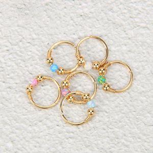 anneau de nez en acier inoxydable de haute qualité, anneau de lèvre, clou de nez, bijoux de ponction trésor australien, l'Europe et les États-Unis populaire Opal
