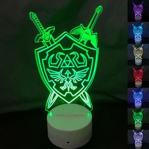 The Legend of Zelda 3D Night Lights Lampada da tavolo Anime Gioco Breath of The Wild visiva Illusion Led regalo Luce